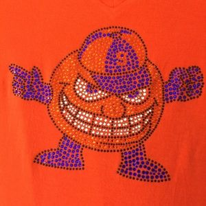 "Tops - Syracuse ""Otto"" Women's V-neck Bling T-shirt SzXL"